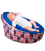 Vesta Baby Baby Bean Bag Chair 3-point Safety Harness For Infants, UNFILLED