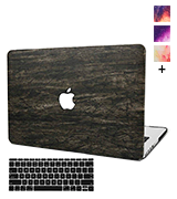 KEC Case for MacBook Pro 15 with Keyboard Cover Italian Leather A1990/A1707 Touch Bar