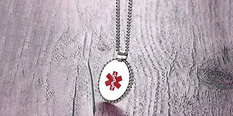 Review of VNOX PN-674 Free Engraving Stainless Steel Medical Alert ID Pendant Necklace