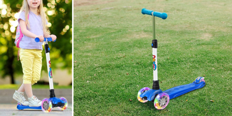 BELEEV Adjustable Kick Scooter for Kids in the use