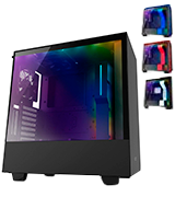 NZXT H500i (CA-H500W-B1) Compact ATX Mid-Tower PC Gaming Case Tempered Glass Panel
