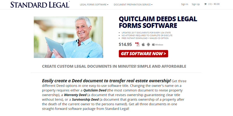 Review of Standard Legal Quitclaim Deeds Legal Forms Software