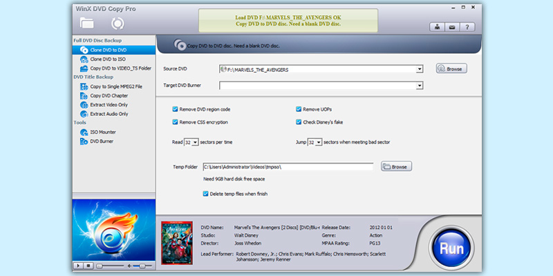 Review of Digiarty WinX DVD Copy Pro Burner + Backup Software