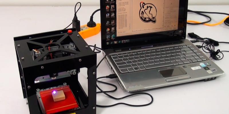 WER USB DIY Laser Engraver Mini in the use