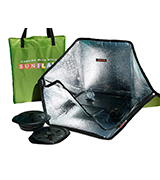 Sunflair Portable Solar Oven Deluxe with Complete Cookware and Thermometer
