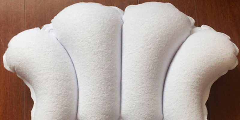 Review of Aquasentials Inflatable Bath Pillow Terry Cloth