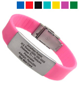 Universal Medical Data Silicone Sport Medical Alert ID Bracelet
