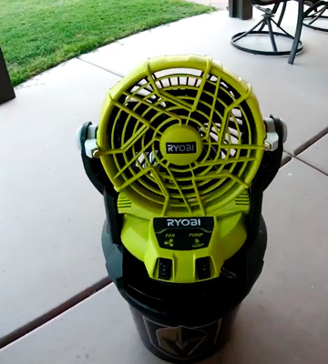 Review of Ryobi 18-Volt ONE+ Bucket Top Misting Fan Kit