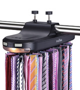 Primode TR4-BK Motorized Tie Rack With LED Lights