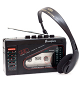 Broksonic TSG-45 Walkman AM/FM Stereo Cassette Recorder with Dynamic Stereo Headphones