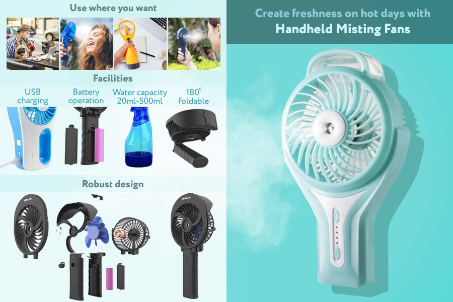 Comparison of Handheld Misting Fans