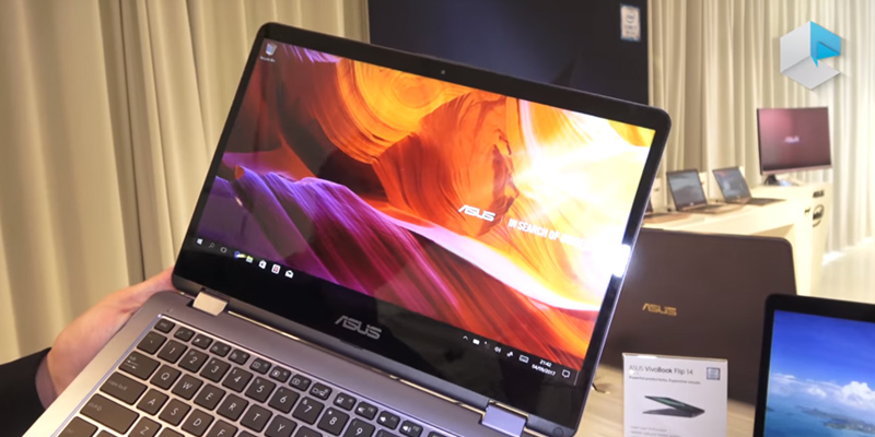 "Review of ASUS VivoBook Flip 2-in-1 Laptop, 14"" HD Touchscreen, Intel Celeron 2.6GHz Processor, 4GB RAM, 64GB EMMC"
