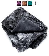 Chanasya Super Soft Fur Faux Charcoal Gray Waivy Fur Pattern