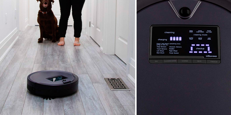 bObsweep Pet Hair Plus Robotic Vacuum Cleaner and Mop in the use