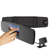 YI C1C Mirror Dash Cam with Touch Screen