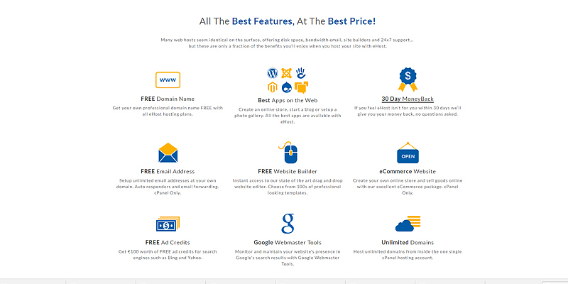 Review of Ehost Web Hosting