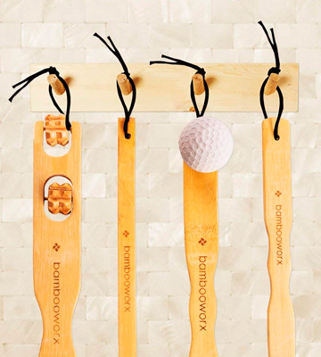 Review of BambooWorx Back Scratcher 4 Piece Traditional Back Scratcher and Body Relaxation Massager Set for Itching Relief