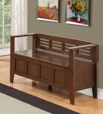 Review Of Simpli Home Adams Entryway Storage Bench