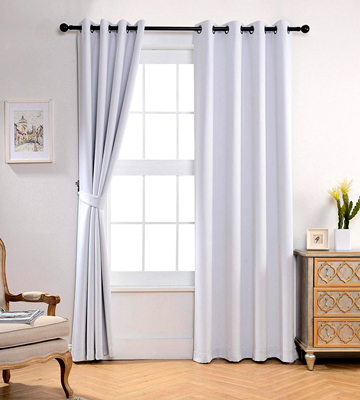 Review of Miuco Thermal Insulated Grommet 52-Inch-by-84-Inch Blackout Window Curtain Panels with 2 Tie Backs