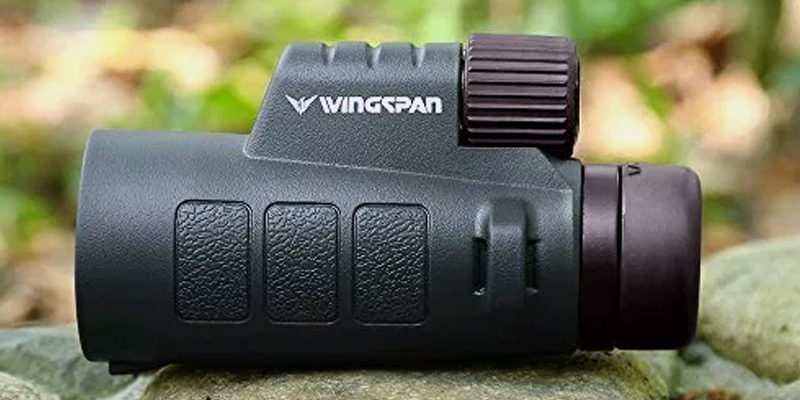 Wingspan Optics Tracker 8X42 Compact Wide View Monocular with Advanced Optics in the use
