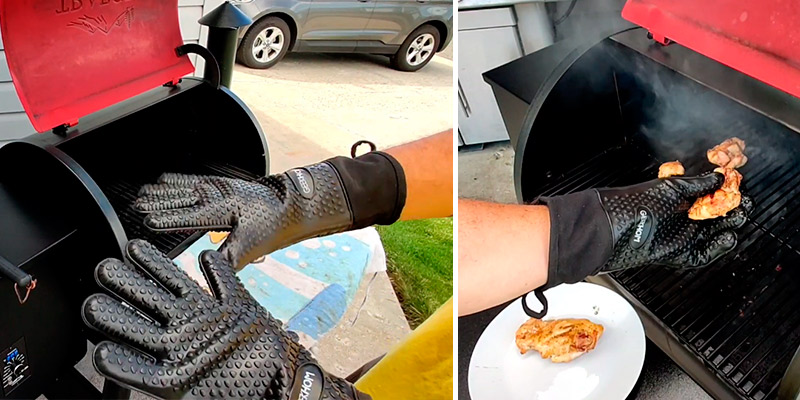 Review of GEEKHOM Silicone Grilling Gloves