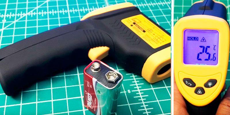 Etekcity Lasergrip 1080 Non-contact Digital Laser Infrared Thermometer Temperature Gun in the use