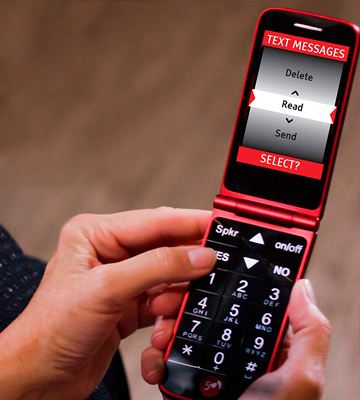 Review of Jitterbug 4043SJ6RED Flip Easy-to-use Cell Phone