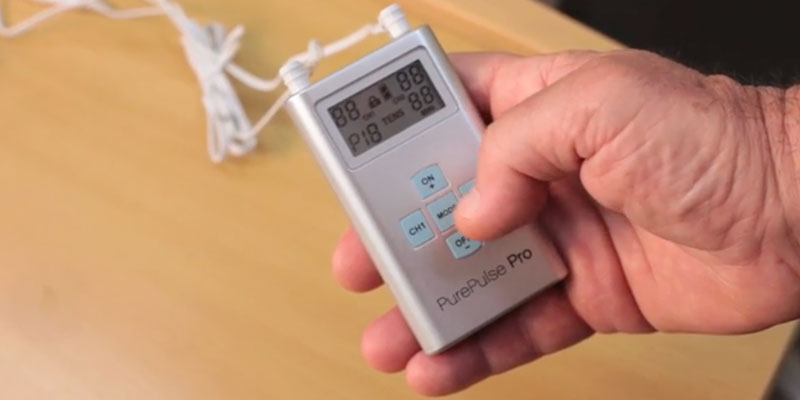 Pure Enrichment PurePulse Pro TENS Unit Muscle Stimulator in the use