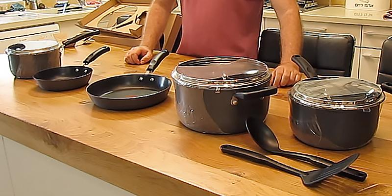 T-fal 12-Piece Hard Anodized Cookware Set in the use