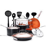 Gotham Steel 15-Piece Titanium and Ceramic Cookware Set
