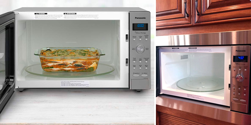 Panasonic NN-SD775S Countertop / Built-In Microwave Oven with Cyclonic Wave Inverter Technology in the use