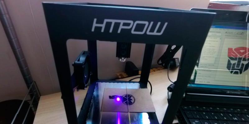 HTPOW Mini USB Laser Engraver in the use