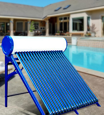 Review of Duda Solar DS-SH58-15T-SUS304 150 Liter Passive Solar Water Heater Attached Pressurized Tank