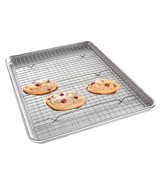 USA Pan 1606CR Half Sheet Baking Pan and Bakeable Nonstick Cooling Rack