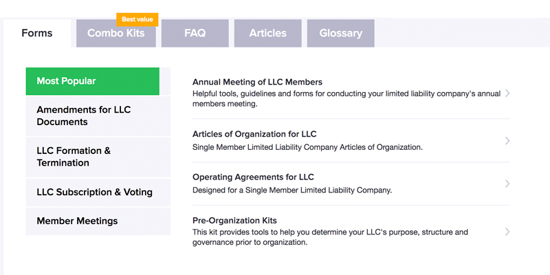 Detailed review of FindLegalForms Limited Liability Co. Legal Forms