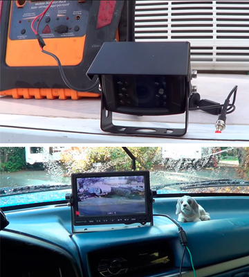 Review of ZEROXCLUB W01 Digital Wireless Backup Camera System Kit (IP69, 7'' Wireless LCD Monitor )