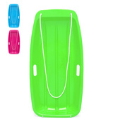 Best Choice Products 35in Kids Plastic Toboggan Snow Sled with Pull Rope