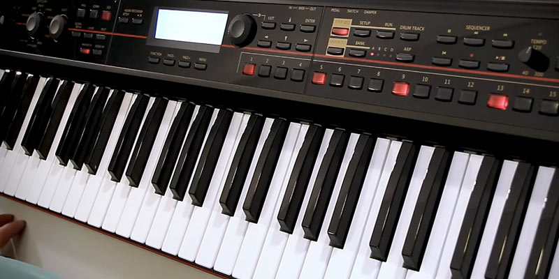 Korg KROSS-88 Key Black Keyboard Production Station in the use