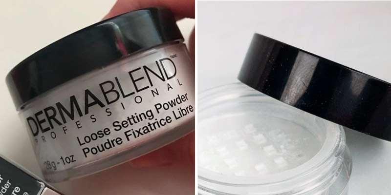 Review of Dermablend Setting Powder Loose Powder for Finishing and Setting Makeup