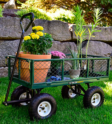 Review of Gorilla Carts GOR400-COM Steel Garden Cart with Removable Sides