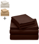 Pinzon by Amazon Italian Roast Heavyweight Velvet Flannel Sheet Set