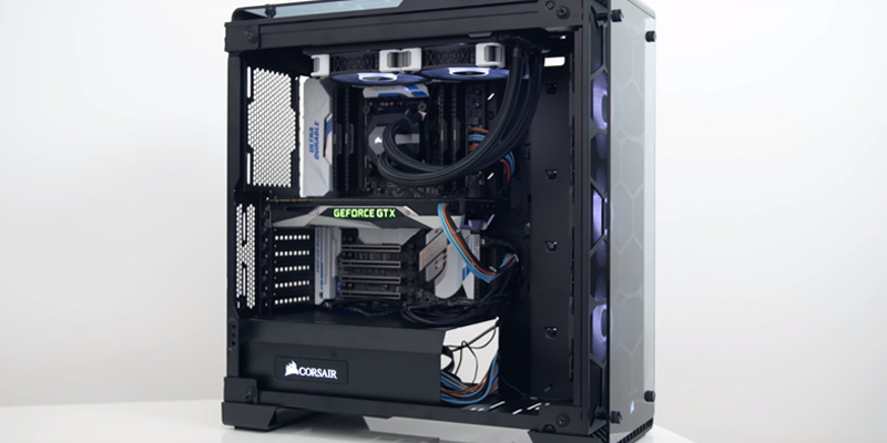Review of Corsair CRYSTAL 570X RGB Mid-Tower Case, 3 RGB Fans, Tempered Glass