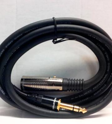 Review of Monoprice XLR Male to 1/4inch TRS Male Cable