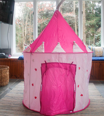 Review of FoxPrint Princess Castle Play Tent with Glow in The Dark Stars