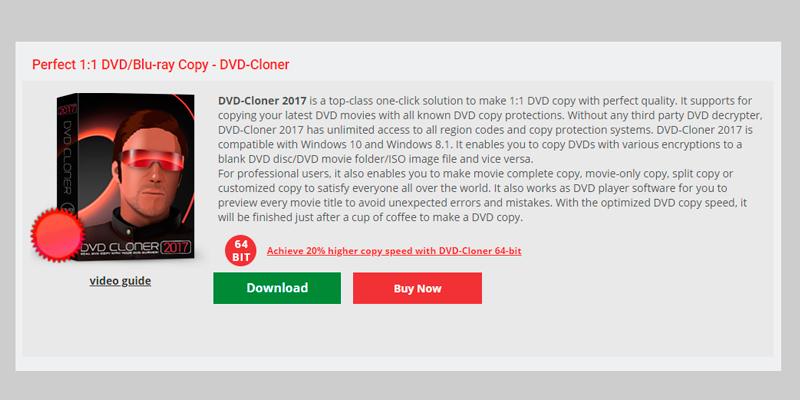 Review of DVD-Cloner DVD/Blu-ray Burner Software