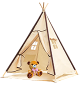 Lavievert Indian Canvas Teepee Children Playhouse Tent