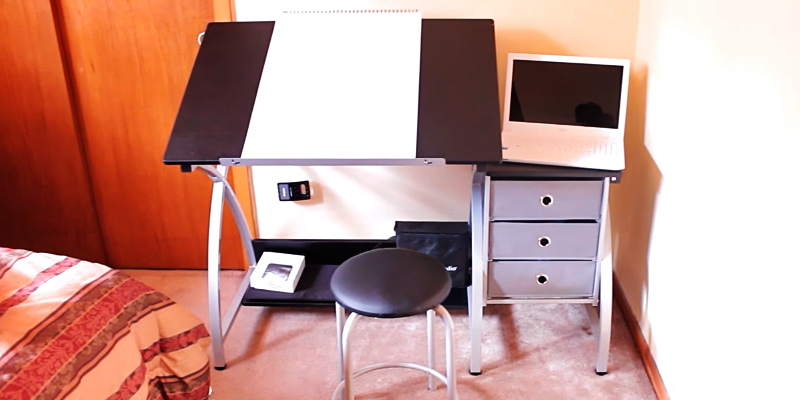 Review Of Studio Designs Comet Center Drawing Table With Stool And Storage