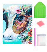 WYQN Colorful Cow DIY 5D Diamond Painting by Number Kits