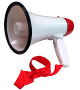 Ideas In Life Portable Megaphone Speaker Bullhorn with Voice and Siren/Alarm Modes