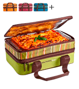 Rachael Ray Expandable Lasagna Lugger Casserole Carrier